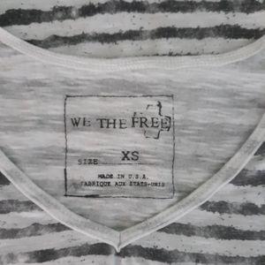 We the free tunic top striped sz XS free people